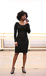"""LaChanze during the press presentation for  """"Summer: The Donna Summer Musical"""" on March 8, 2018 at the New 42nd Street Studios,  in New York City."""