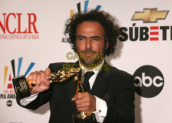 ALEJANDRO GONZALEZ INARRITU.2007 NCLR ALMA Awards at the Pasadena Civic Center, Pasadena, California, USA..June 1st, 2007.half length black suit award trophy jacket awards trophies .CAP/ADM/BP.©Byron Purvis/AdMedia/Capital Pictures