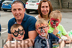 Family Fun Day: Attending the family fun day in the Square, Listowel on Sunday afternoon last were Killian, Adam & Luke Scanlan with their parents Conor & Margaret Scanlan, Ballybunion.