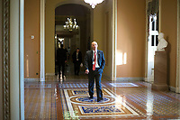 White House Legislative Director Marc Short walks near the Senate Chamber in the US Capitol in Washington, D.C. on Friday, December 1, 2017. Photo Credit: Alex Edelman/CNP/AdMedia