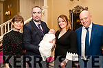 Baby Kieran son of Sean & Siobhan Liston, Athea , godmother Jemma Liston & godfather  Padraig Kiely who was christened in Athea Church by Fr Mullins on saturday last and afterwards at the Listowel Arms Hotel.