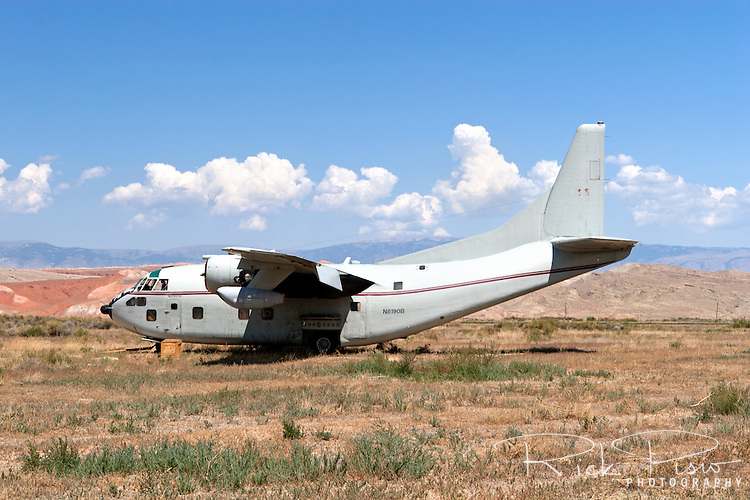 Fairchild C-123 Provider sits on the Hawkins & Powers storage area in Greybull, Wyoming.