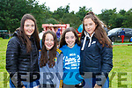 Caoimhe Ferris, Millie and Sarah Coffey and Elva Clendennen at the Treshing for Cancer in Beaufort on Sunday