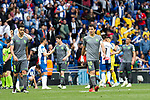 Real Sociedad's Mikel Merino and Mikel Oyarzabal dejceted  during La Liga match. May, 18th,2019. (ALTERPHOTOS/Alconada)