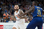 Real Madrid Jeffery Taylor and FC Barcelona Lassa Rakim Sanders during Turkish Airlines Euroleague match between Real Madrid and FC Barcelona Lassa at Wizink Center in Madrid, Spain. December 14, 2017. (ALTERPHOTOS/Borja B.Hojas)