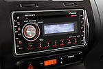 Stereo audio system detail view of a 2008 Scion XD