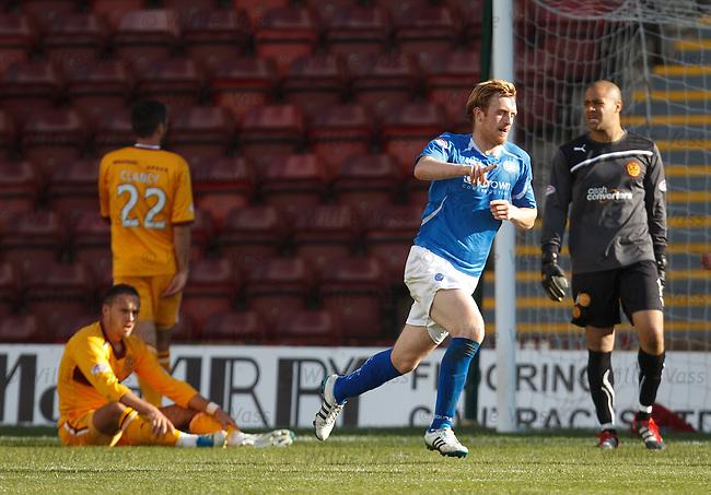 Liam Craig celebrates his goal for St Johnstone
