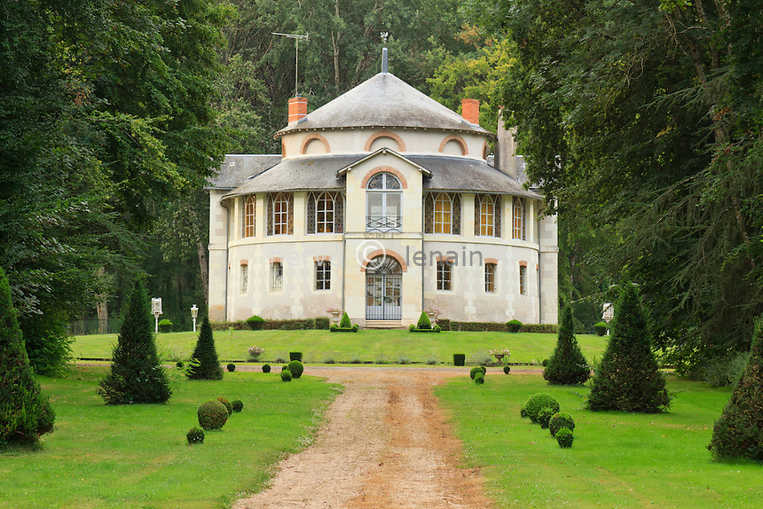 France, Indre (36), Valençay, le domaine de la Garenne, pavillon de chasse, faisait partie du château à l'origine // France, Indre, Valençay, the domain of the Garenne, the hunting lodge was a part of the castle originally