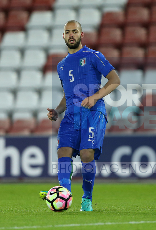 Italy's Davide Biraschi in action during the Under 21 International Friendly match at the St Mary's Stadium, Southampton. Picture date November 10th, 2016 Pic David Klein/Sportimage