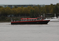 General view of a ship Sardane on the River Garonne, Bordeaux, Nouvelle-Aquitaine, France on 16.10.19.