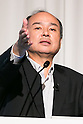 Masayoshi Son, SoftBank Chairman and CEO, speaks during a media conference at the Shinagawa Prince Hotel on July 28, 2016, Tokyo, Japan. SoftBank Group Corp. announced that its profits were up 19% versus the previous quarter, as proceeds from the sale of part of its stake in Alibaba Group Holding Ltd. more than compensated for losses at Sprint Corp. (Photo by Rodrigo Reyes Marin/AFLO)