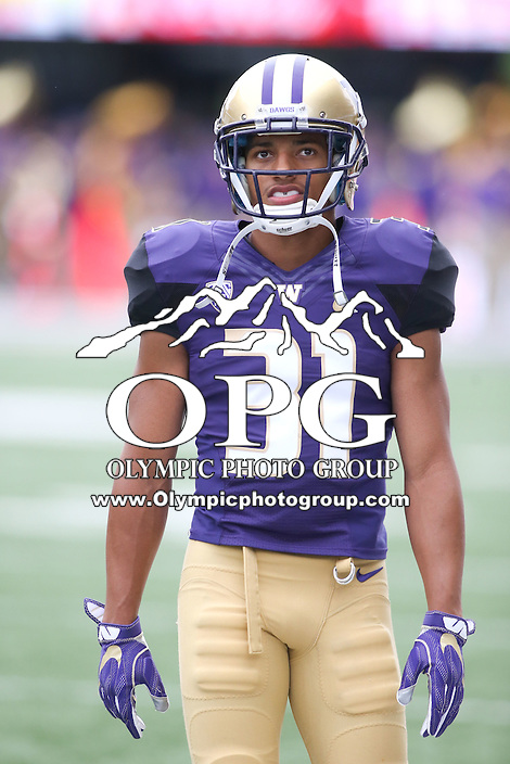03 September 2016: Washington's Myles Bryant against Rutgers.  Washington defeated Rutgers 48-13 at the University of Washington in Seattle, WA.