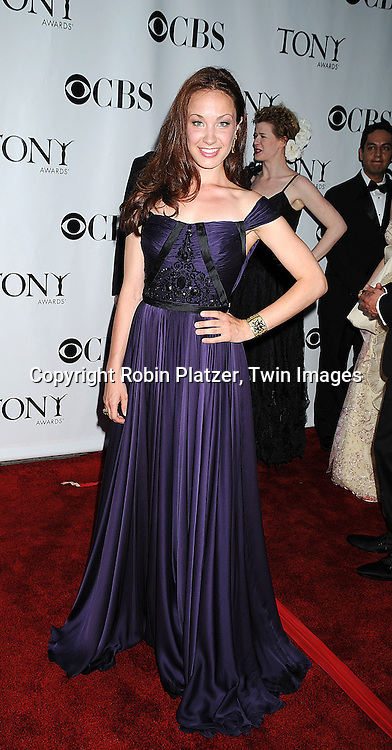 actress Sierra Boggess.posing for photographers at the 62nd Annual Tony Awards.on June 15, 2008 at Radio City Music Hall. ..Robin Platzer, Twin Images