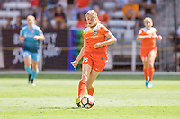 Houston, TX - Saturday May 13, Houston Dash forward Janine Beckie (16) during a regular season National Women's Soccer League (NWSL) match between the Houston Dash and Sky Blue FC at BBVA Compass Stadium. Sky Blue won the game 3-1.