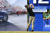Christopher Mivis (BEL) tees off the 12th tee during Saturday's Round 3 of the Porsche European Open 2018 held at Green Eagle Golf Courses, Hamburg Germany. 28th July 2018.<br /> Picture: Eoin Clarke | Golffile<br /> <br /> <br /> All photos usage must carry mandatory copyright credit (&copy; Golffile | Eoin Clarke)