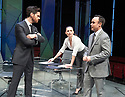 Dry Powder by Sarah Burgess. A Hampstead Theatre Production directed by Anna Ledwich. With Tom Riley as Seth,  Hayley Atwell as Jenny,Joseph Balderrama as Jeff . Opens at The Hampstead Theatre on 1/2/18. CREDIT Geraint Lewis EDITORIAL USE ONLY