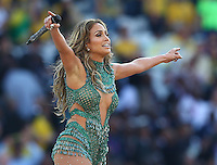 Singer J-Lo (Jennifer Lopez) performs at the opening ceremony of the 2014 FIFA World Cup