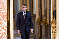 French President Emmanuel Macron arrives for a joint press conference with Italian Premier at Chigi Palace in Rome, January 11, 2018.<br /> UPDATE IMAGES PRESS/Riccardo De Luca<br /> <br /> ITALY OUT
