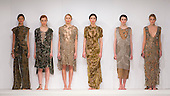 01/06/2015. London, UK. Collection by Rebekah March. Fashion show of Bath Spa University at Graduate Fashion Week 2015. Graduate Fashion Week takes place from 30 May to 2 June 2015 at the Old Truman Brewery, Brick Lane.