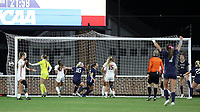 CHAPEL HILL, NC - NOVEMBER 29: Maycee Bell #25 of the University of North Carolina celebrates scoring the game-winning goal during a game between University of Southern California and University of North Carolina at UNC Soccer and Lacrosse Stadium on November 29, 2019 in Chapel Hill, North Carolina.