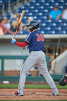 Jett Bandy (28) of the Nashville Sounds bats against the Reno Aces at Greater Nevada Field on June 5, 2019 in Reno, Nevada. The Aces defeated the Sounds 3-2. (Stephen Smith/Four Seam Images)