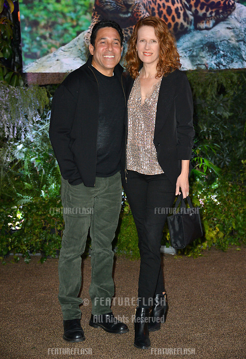 Oscar Nunez &amp; Ursula Whittaker at the Los Angeles premiere of &quot;Jumanji: Welcome To the Jungle&quot; at the TCL Chinese Theatre, Hollywood, USA 11 Dec. 2017<br /> Picture: Paul Smith/Featureflash/SilverHub 0208 004 5359 sales@silverhubmedia.com