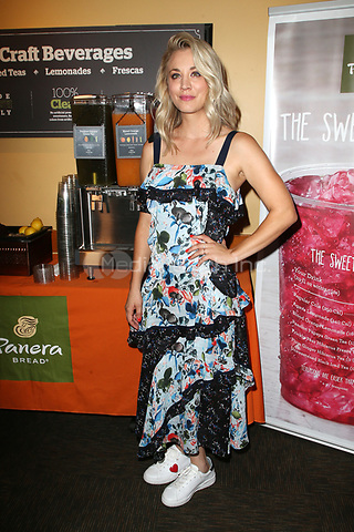 STUDIO CITY, CA - AUGUST 30: Kaley Cuoco hosts Panera Bread's New Craft Beverage Station at Panera Bread on Ventura Blvd in Studio City, California  on August 30, 2017. Credit: Faye Sadou/MediaPunch