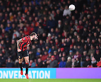 27th January 2020; Vitality Stadium, Bournemouth, Dorset, England; English FA Cup Football, Bournemouth Athletic versus Arsenal; Steve Cook of Bournemouth heads the ball upfield