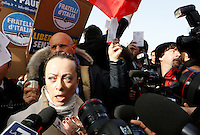 20140217 ROMA-POLITICA: FRATELLI D'ITALIA PROTESTA CONTRO L'INCARICO A RENZI