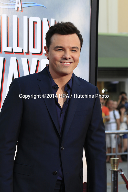 "LOS ANGELES - MAY 15:  Seth MacFarlane at the ""A Million Ways To Die In The West"" World Premiere at Village Theater on May 15, 2014 in Westwood, CA"