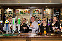 Pictured from left are Ben Lovegrove, Rachael Weaver, owner Michael Perry, Samantha Adams and Lois Hayes
