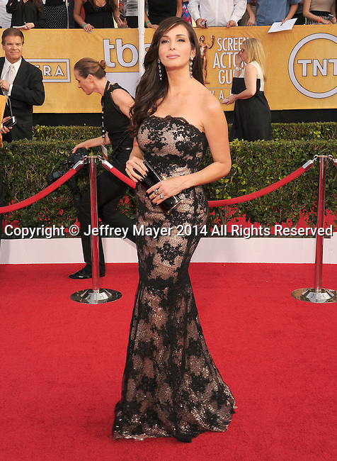 LOS ANGELES, CA- JANUARY 18: Actress Giselle Blondet arrives at the 20th Annual Screen Actors Guild Awards at The Shrine Auditorium on January 18, 2014 in Los Angeles, California.