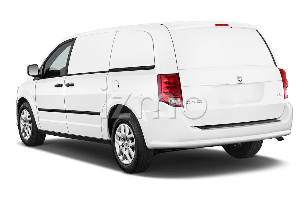 Car pictures of rear three quarter view of a 2015 Ram base tradesman 5 Door Cargo Van angular rear