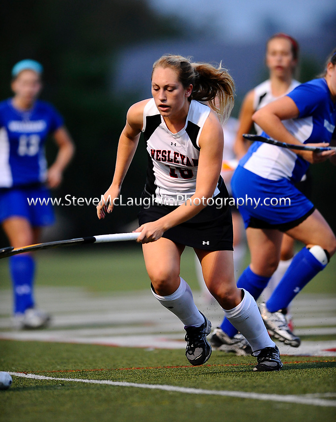 Morgan McCauley '12 & Liz Chabot '12 Each Have a Goal & an Assist, Tori Redding '13 Makes 6 Saves as Field Hockey Blanks Wellesley