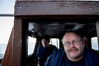 Mark McCrindle, skipper of the lobster boat M.V. Glorious, and deck hand Jim McWhirter.
