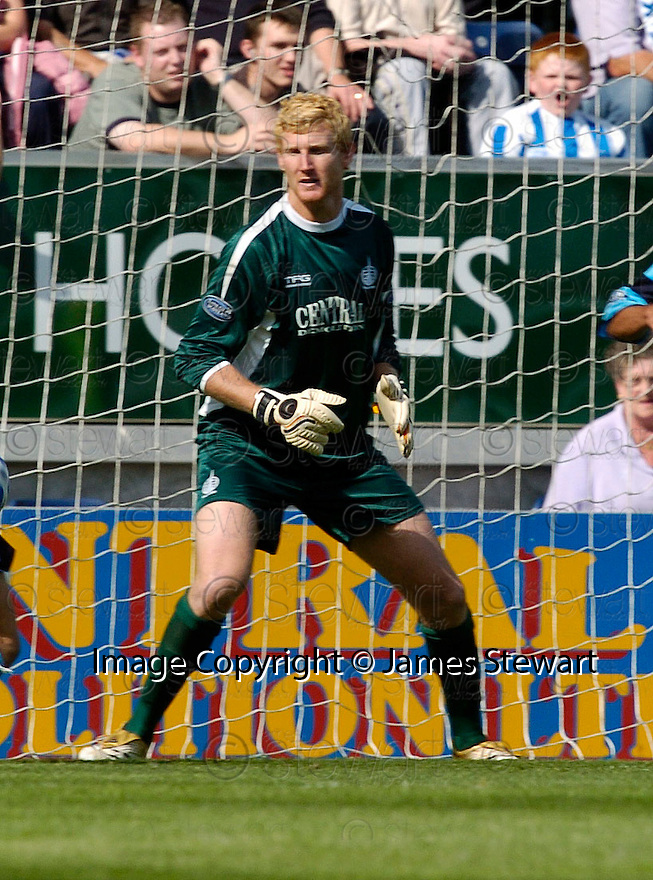 19/08/2006        Copyright Pic: James Stewart.File Name : sct_jspa17_falkirk_v_kilmarnock.FALKIRK KEEPER SCOTT HIGGINS..Payments to :.James Stewart Photo Agency 19 Carronlea Drive, Falkirk. FK2 8DN      Vat Reg No. 607 6932 25.Office     : +44 (0)1324 570906     .Mobile   : +44 (0)7721 416997.Fax         : +44 (0)1324 570906.E-mail  :  jim@jspa.co.uk.If you require further information then contact Jim Stewart on any of the numbers above.........