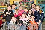 MUSIC MAKER: Pupils at Meenkilly National School in Abbeyfeale hitting the high notes as they await the RTE cameras at the school this week. RTE filmed Laura Dillon who is in the National final of Ice Talent..Front L/r. Megan McDonagh, Laura Dillon, Donal Og O'Connor, Caroline Leonard..Second row L/r. Kieran Daly, Shauna Lane, Teresa Looney..Back L/r. Matthew Flynn, Lisa Shine, Kieran Foley and Ita O'Donnell.   Copyright Kerry's Eye 2008