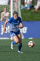 Allston, MA - Saturday August 19, 2017: Camila Martins Pereira, Morgan Andrews during a regular season National Women's Soccer League (NWSL) match between the Boston Breakers and the Orlando Pride at Jordan Field.