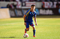 Dillon Serna (17) of the Colorado Rapids. The New York Red Bulls and the Colorado Rapids played to a 1-1 tie during a Major League Soccer (MLS) match at Red Bull Arena in Harrison, NJ, on March 15, 2014.