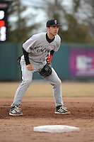 Cincinnati Bearcats infielder Devin Wenzel (8) during 2nd game of double header against the St. John's Redstorm at Jack Kaiser Stadium on March 28, 2013 in Queens, New York. Cincinnati defeated St. John's 6-5.      . (Tomasso DeRosa/ Four Seam Images)