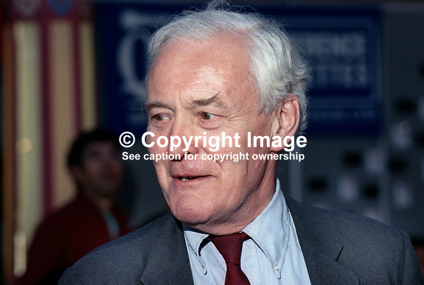 Tony Benn, MP, aka Tony Wedgwood Benn, Labour Party, UK, 199409038.<br /> <br /> Copyright Image from Victor Patterson,<br /> 54 Dorchester Park, <br /> Belfast, UK, BT9 6RJ<br /> <br /> t1: +44 28 9066 1296 (from Rep of Ireland 048 90661296)<br /> t2: +44 28 9002 2446 (from Rep of Ireland 048 9002 2446)<br /> <br /> m: +44 7802 353836<br /> <br /> e: victorpatterson@me.com<br /> www.victorpatterson.com<br /> <br /> Please see my Terms and Conditions of Use at www.victorpatterson.com. It is IMPORTANT that you familiarise yourself with them.<br /> <br /> Images used on the Internet must be visibly watermarked i.e. &copy; Victor Patterson<br /> within the body of the image and copyright metadata must not be deleted. Images <br /> used on the Internet have a size restriction of 4kbs and will be chargeable at current<br />  NUJ rates unless agreed otherwise.<br /> <br /> This image is only available for the use of the download recipient i.e. television station, newspaper, magazine, book publisher, etc, and must not be passed on to any third <br /> party. It is also downloaded on condition that each and every usage is notified within 7 days to victorpatterson@me.com<br /> <br /> The right of Victor Patterson to be identified as the author is asserted in accordance with The Copyright Designs And Patents Act (1988). All moral rights are asserted