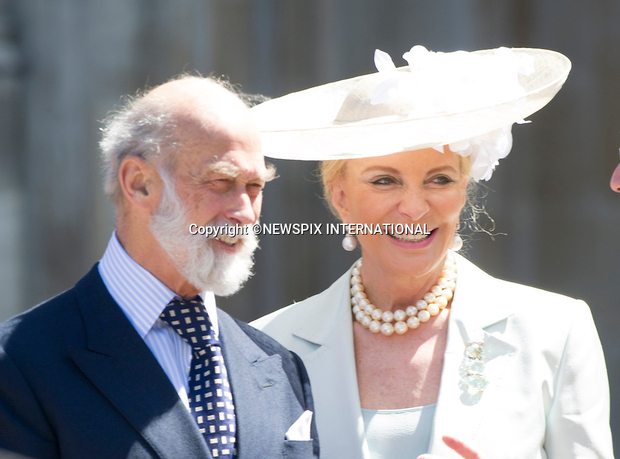 PRINCE AND PRINCESS MICHAEL OF KENT<br /> joined other members of the Royal Family for  A Service to Celebrate the Queen's 60th Anniversary of the Coronation Service at Westminster Abbey, London_04/06/2013<br /> Members of the Royal Family attending the Service included The Prince of Wales and The Duchess of Cornwall, The Duke and Duchess of Cambridge, Prince Henry of Wales, The Duke of York and Princesses Beatrice and Eugenie, The Earl and Countess of Wessex and The Lady Louise Mountbatten-Windsor, The Princess Royal, Vice Admiral Sir Tim Laurence, Peter Phillips and Autumn (Kelly) Phillips, Zara (Phillips) Tindall and Mike Tindall, The Duke and Duchess of Gloucester, The Duke and Duchess of Kent, Prince and Princess Michael of Kent<br /> Mandatory Credit Photo: &copy;Francis Dias/NEWSPIX INTERNATIONAL<br /> <br /> **ALL FEES PAYABLE TO: &quot;NEWSPIX INTERNATIONAL&quot;**<br /> <br /> IMMEDIATE CONFIRMATION OF USAGE REQUIRED:<br /> Newspix International, 31 Chinnery Hill, Bishop's Stortford, ENGLAND CM23 3PS<br /> Tel:+441279 324672  ; Fax: +441279656877<br /> Mobile:  07775681153<br /> e-mail: info@newspixinternational.co.uk