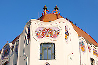 The 1902 Art Nouveau (Sezession) Cifra Palota (Cifra Palace) with Zolnay tiles, Hungary Kecskemét