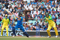 Shikhar Dhawan (India) cuts Adam Zampa (Australia) to point during India vs Australia, ICC World Cup Cricket at The Oval on 9th June 2019