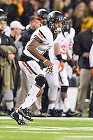 Oklahoma State cornerback Kevin Peterson (1) during an NCAA football game, Saturday, November 22, 2014 in Waco, Tex. Baylor defeated Oklahoma State 49-28. (Mo Khursheed/TFV Media via AP Images)