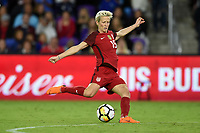Orlando City, FL - Wednesday March 07, 2018: Megan Rapinoe during a 2018 SheBelieves Cup match between the women's national teams of the United States (USA) and England (ENG) at Orlando City Stadium.