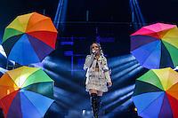 """SÃO PAULO, SP, 18.02.2017 - SHOW-SP - A cantora Larissa Manoela durante show da turnê """"Outra Vez"""", no Citibank Hall, na tarde deste sábado, 18. (Foto: Adriana Spaca/Brazil Photo Press)"""