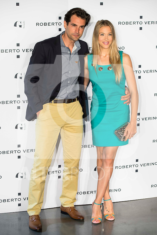 "Alex Adrover and Patricia Montero during the presentation of the new Spring-Summer collection ""Un Balcon al Mar"" of Roberto Verino at Platea in Madrid. March 16, 2016. (ALTERPHOTOS/Borja B.Hojas)"