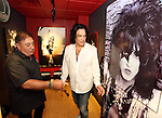 "SIOUX FALLS, SD - JULY 20: Band manager Doc McGhee and KISS member Paul Stanley look at the ""Star Child"" rehearsal room at the Brennan Rock & Roll Academy Saturday afternoon in Sioux Falls.  (Photo by Dave Eggen/Inertia)"