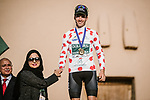 Joel Nicolau Beltran (ESP) Caja Rural-Seguros RGA wins the Polka Dot Jersey classification at the end of Stage 5 of the Saudi Tour 2020 running 144km from Princess Nourah University to Al Masmak, Saudi Arabia. 8th February 2020. <br /> Picture: ASO/Pauline Ballet   Cyclefile<br /> All photos usage must carry mandatory copyright credit (© Cyclefile   ASO/Pauline Ballet)